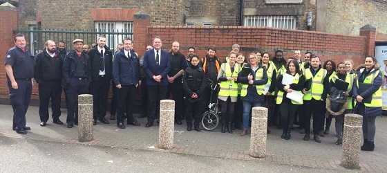 Council teams and the London Fire Brigade come together in Acton