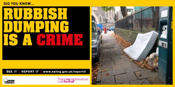Rubbish Dumping is a crime.
