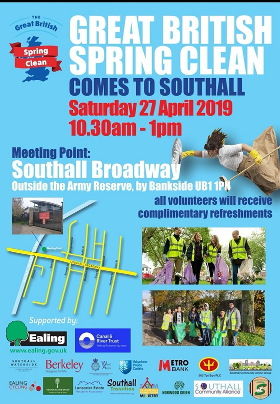 Great British Spring Clean in Southall 2019